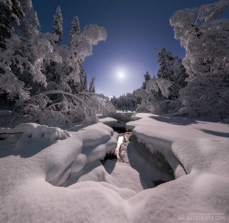 кольский, кольский полуостров, зима, winter, snow, north Полнолунный пейзажphoto preview