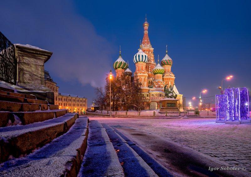 Покровский собор, Москва, Красная площадь, утро, зима, Pokrovsky Cathedral, Moscow, Red Square, morning, winter Покровский соборphoto preview