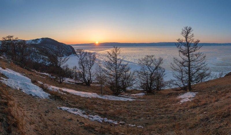 байкал, пейзаж, закат, природа, путешествие, сибирь Байкальский вечерphoto preview