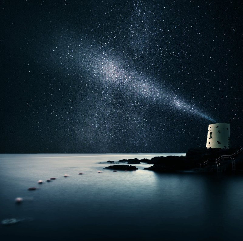 stars,  milky  way, water, long  exposure, light *photo preview