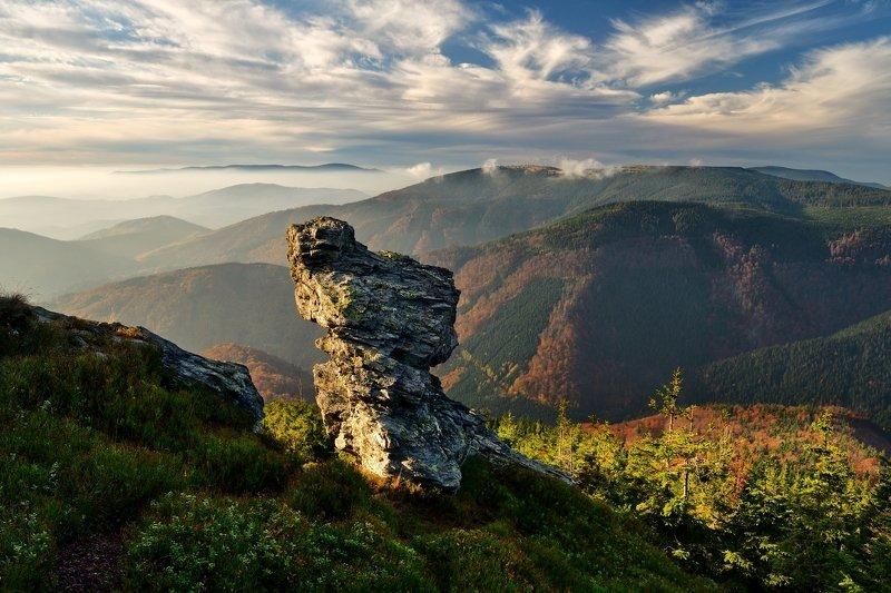 autumn, rock, sunset, czech republic, Rock tooth...photo preview