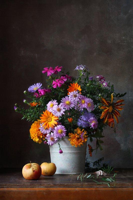 натюрморт, букет, цветы, октябрь. осень Привет из октябряphoto preview