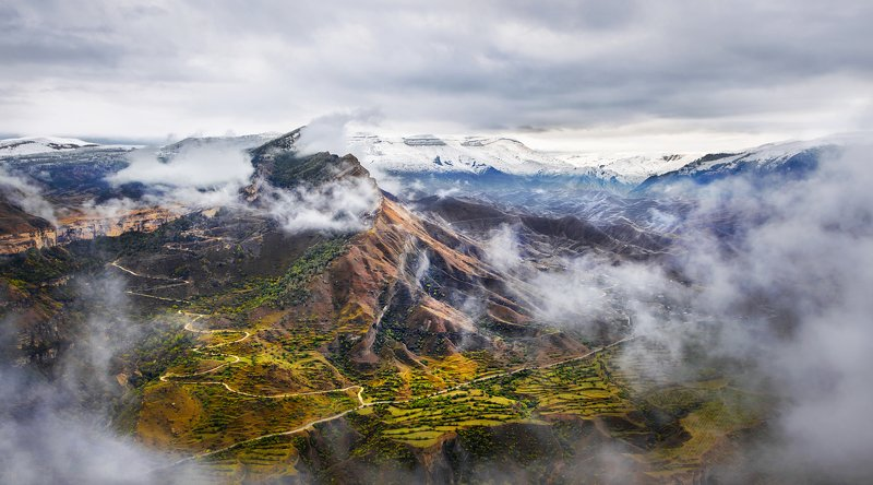 Дагестан, Горы, Mountains, облака Гуниб, Дагестанphoto preview