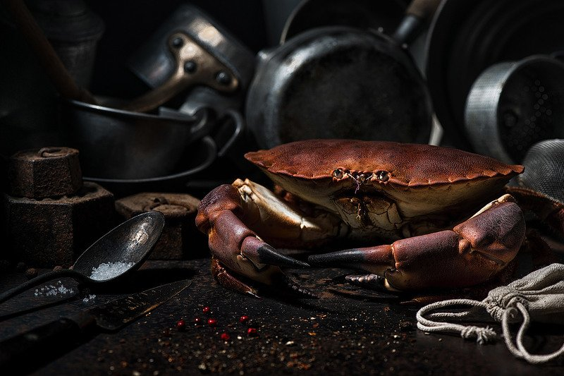 crab; crustacean; seafood; gastronomie; sea; food; red; vintage; pan, LE CRABEphoto preview