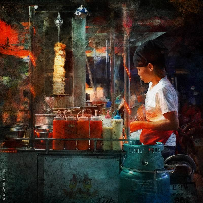 портрет продавец еды. Ko Lanta.photo preview