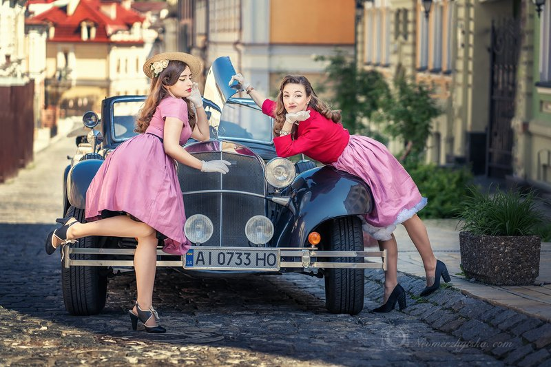 ретро, авто, лавстори, retro, vintage Покатаемся?photo preview