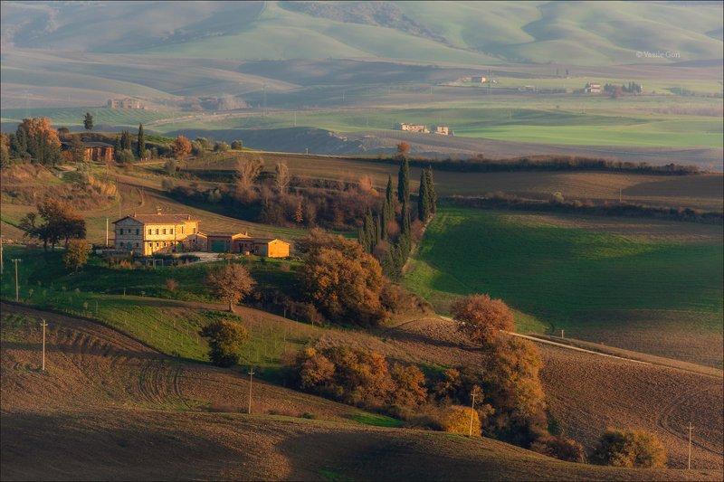 italy,san quirico d\\\'orcia,italia,cappella,италия,villa,тоскана,toscana,осень,tuscany,cipressi. Вечер в Сан-Квирико д\'Орчаphoto preview