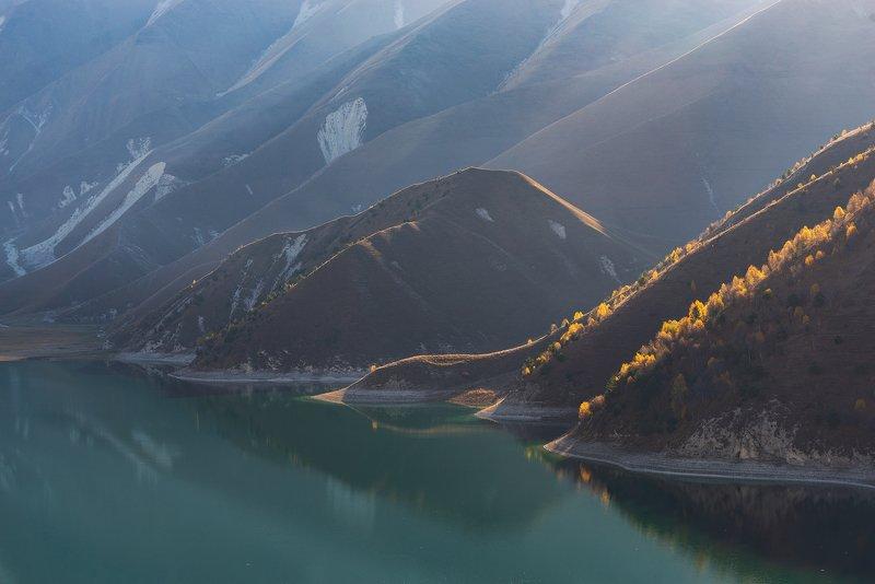 чечня, кезеной ам Утро на озере Кезеной Амphoto preview