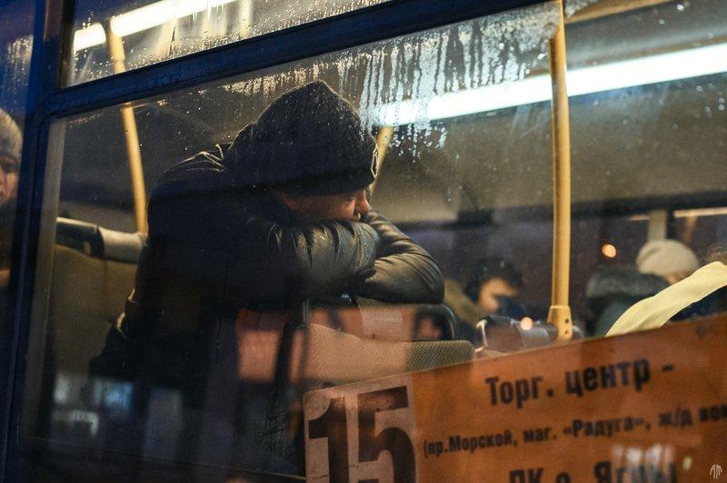уличная фотография, streetphotography, ночь, автобус, На улицахphoto preview