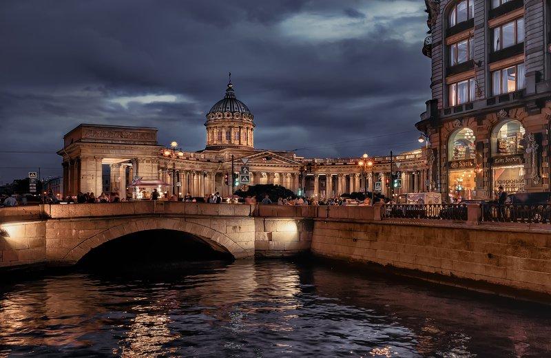 город,архитектура,собор,канал,река,вечер Вечер в городе.photo preview