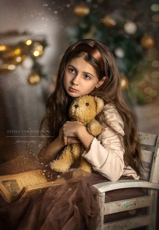 девочка, девушка, дети, детскаяфотосессия, портрет Девочка с мишкойphoto preview