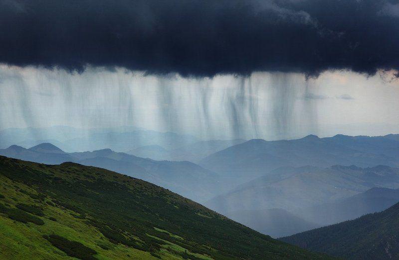 карпаты, горы, , украина, черногора, дождь, гроза Графика дождяphoto preview