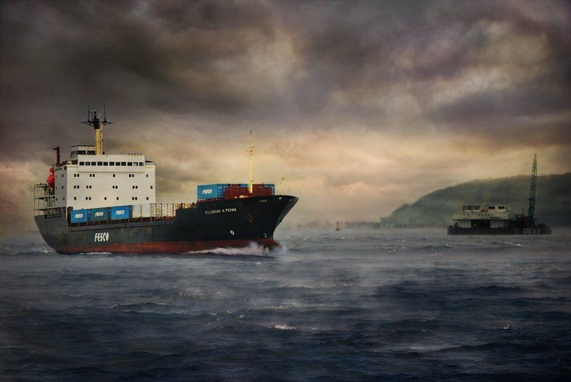японское, , , море, , , корабли, шторм Roerichphoto preview