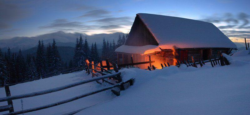 карпаты, горы, снег, зима Первая звездаphoto preview