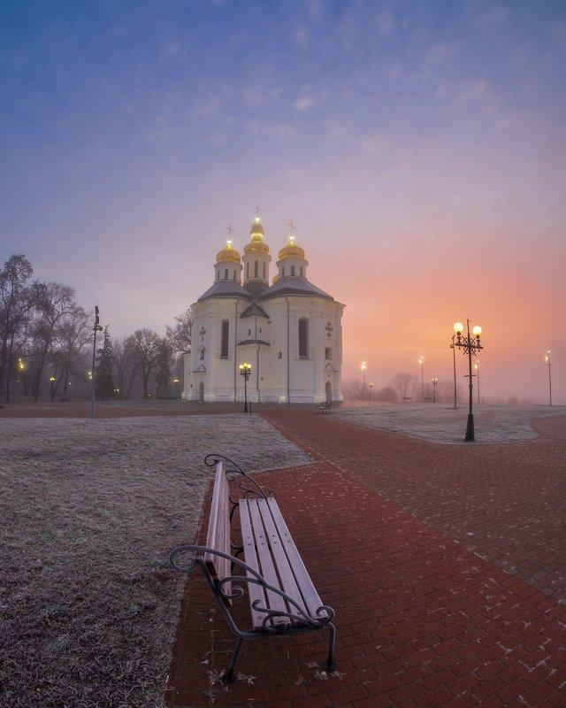 sunrise,dawn,landscape Рассвет в городе легендphoto preview