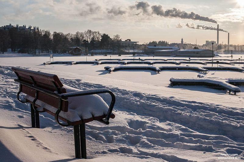 природа, путешествие, пейзаж, финляндия, хельсинки, зима Зимний вечер. Финляндия. Хельсинки.photo preview