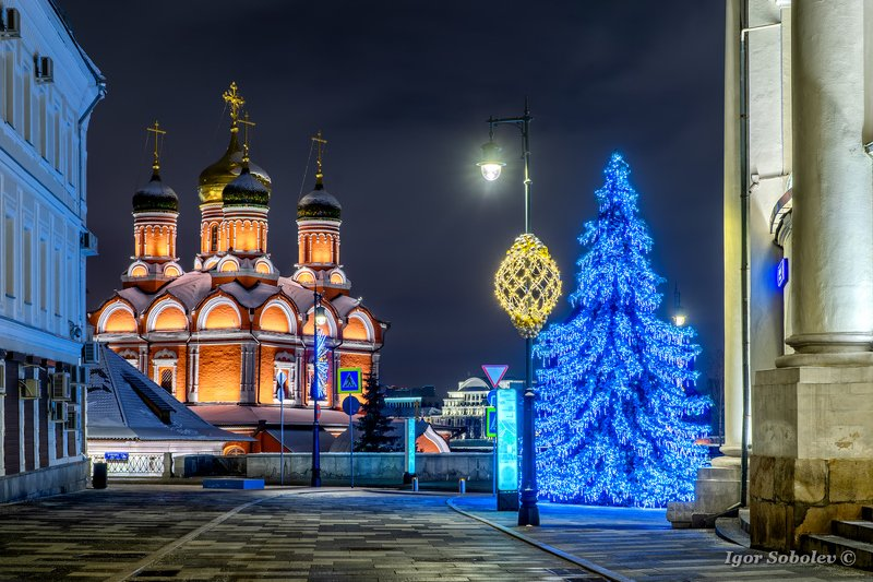 moscow, new year, winter, znamensky cathedral, Знаменский собор, Москва, зима, новый год Знаменский соборphoto preview
