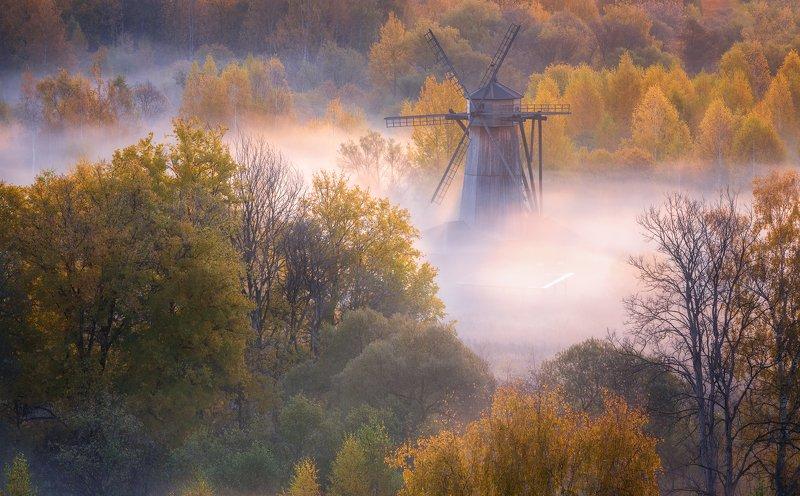 истра, мельница, осень, пейзаж, рассвет Осенние мотивыphoto preview