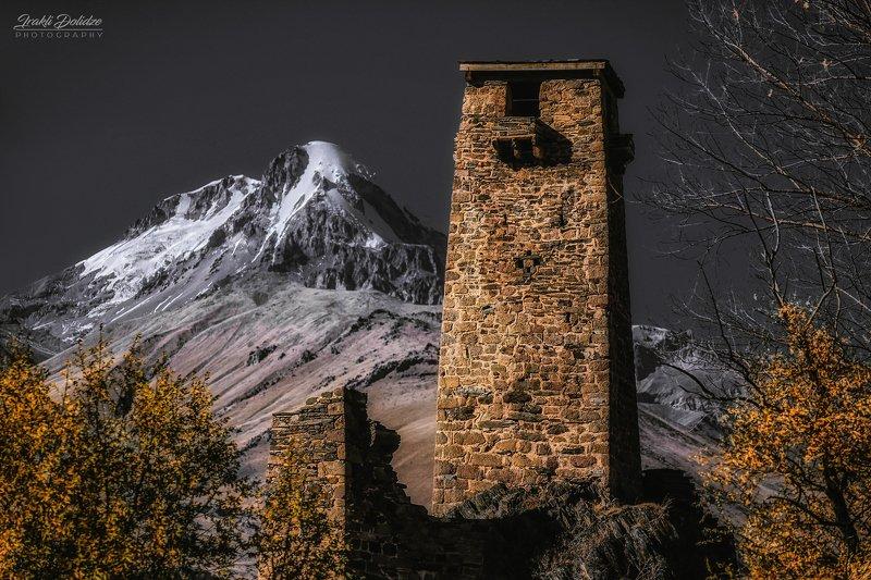 fortress, snow, landscape, кавказ, пейзаж, путешествия Sno fortressphoto preview