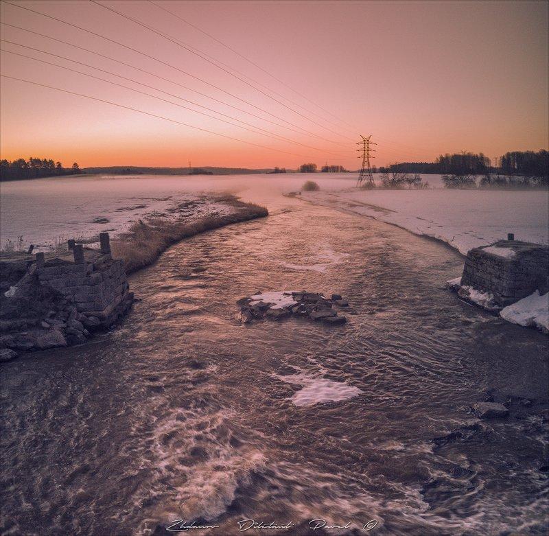 Морозное утро на реке Сторожевая.photo preview