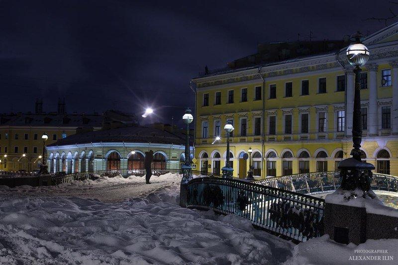 люди, петроград, петербург, санкт-петербург, город, жанр, стрит, репортаж, пейзаж, зима Зимний вечер в Петербургеphoto preview
