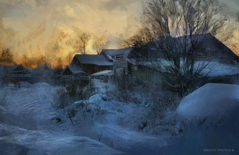 пейзаж закат декабря. снег для Ларисы Гурьевойphoto preview