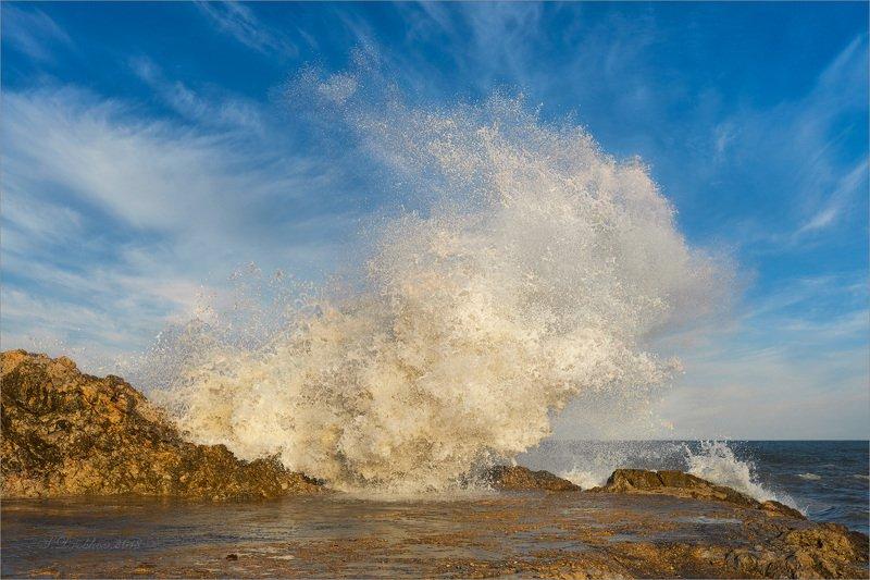 пляж, небо, облака, море, волны Ветерphoto preview