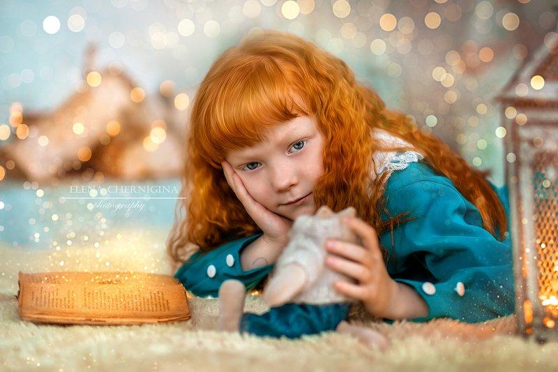 Девочка, рыжик, рыжая девочка, дети, детская фотография, винтаж, ретро, портрет Рыжикphoto preview