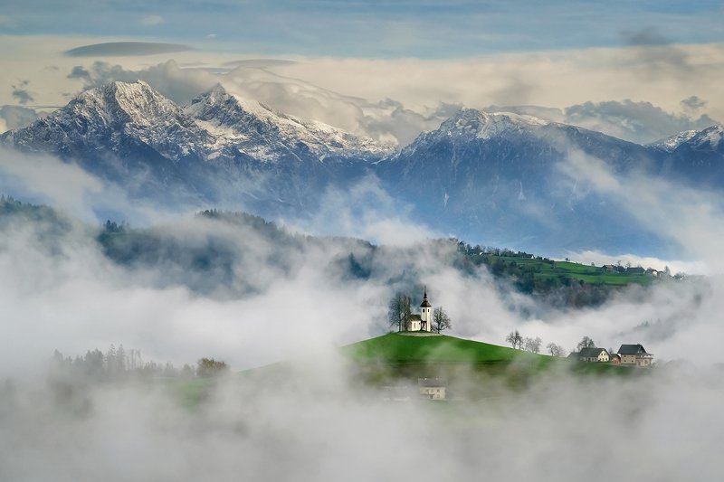 словения, slovenia, туманы словении, church, church of st thomas slovenia, храмы словении, slovenia landscape, slovenia landscape photography В стране уютных туманов. Church of st Thomas Sloveniaphoto preview