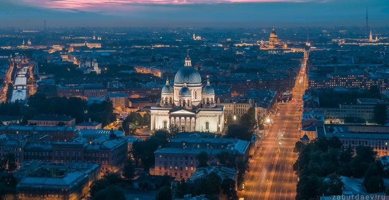 россия, петербург, вечер, лето, закат, дрон, собор, санкт-петербург, город Троицкий соборphoto preview