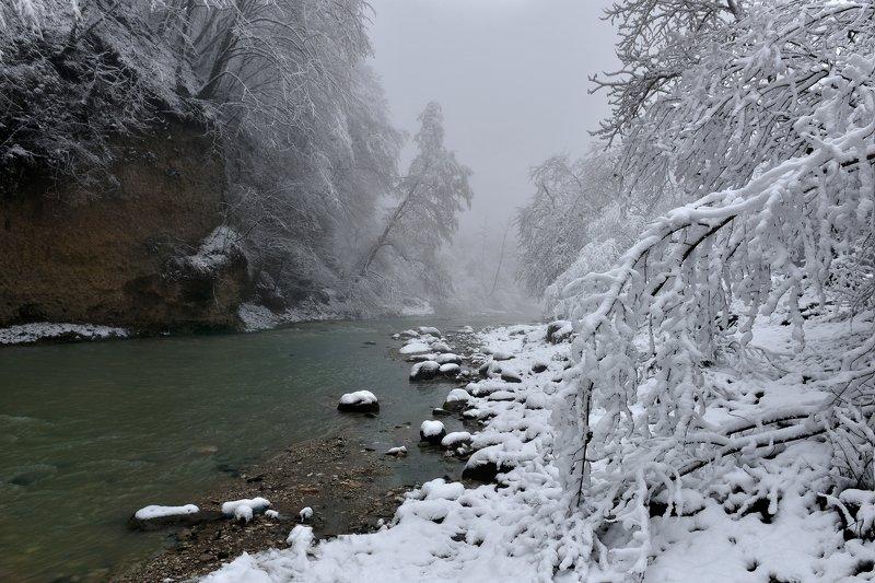Зимний пейзаж#Кабардино-Балкария#река Нальчик#горные реки#Северный Кавказ Зимнее утро на реке Нальчикphoto preview