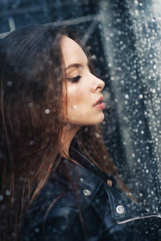 портрет, профиль, дождь ***photo preview