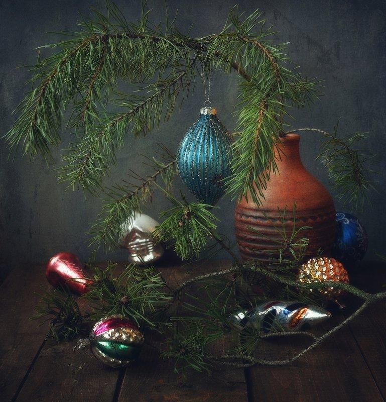 натюрморт,праздник,новый_год,игрушки,сосна С Новым годом !!!! фото превью