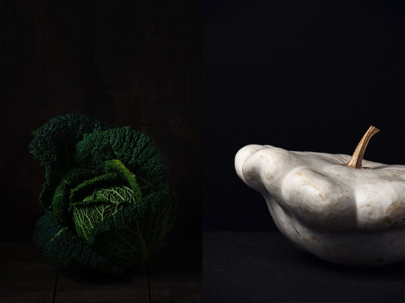 patisson; choux; pattypan; green; cabbage; dark, food, gastronomie Nature Vivantephoto preview