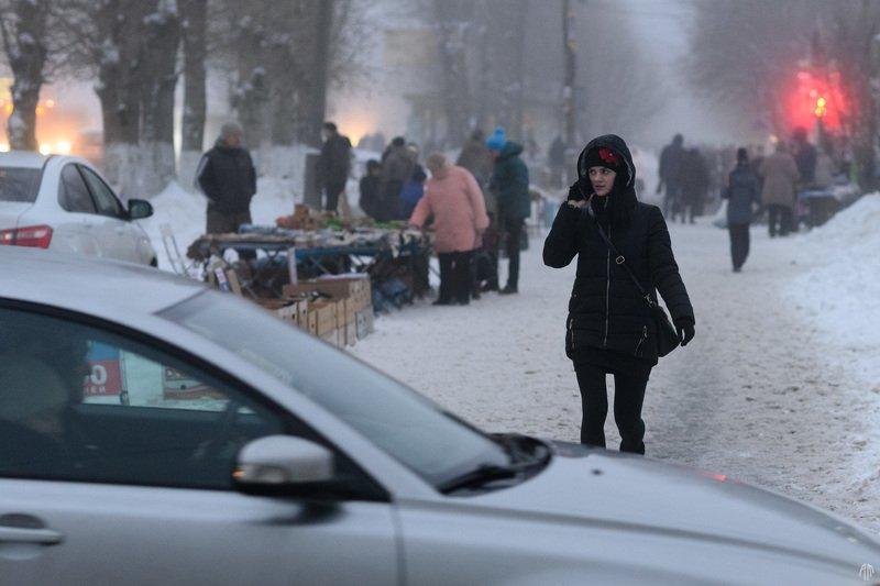 уличная фотография, streetphotography, ночь, туман, Туман пишет историиphoto preview