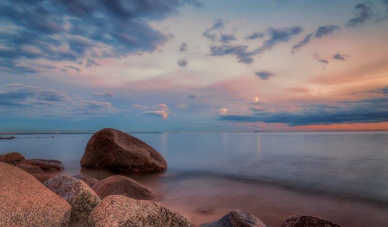 море,вечер,камни,небо Вечер на море.photo preview