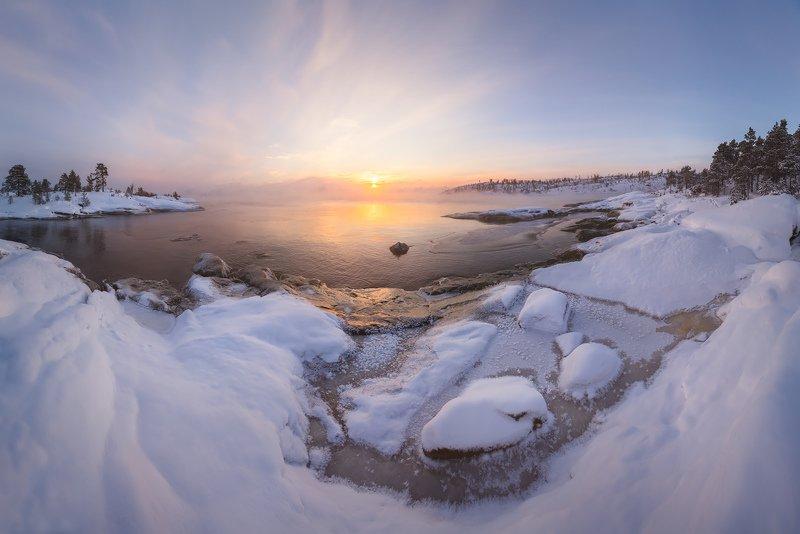 зима на Ладоге, шхеры Карелии, Ладожские озеро зимой \