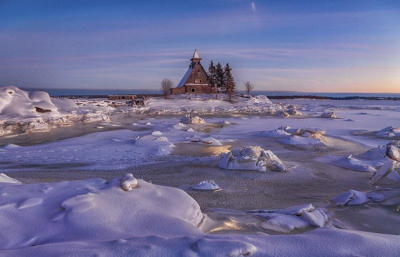 остров, белое море, зима, рабочеостровск photo preview