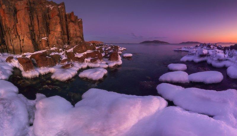 зима, море, скалы, лёд ***photo preview