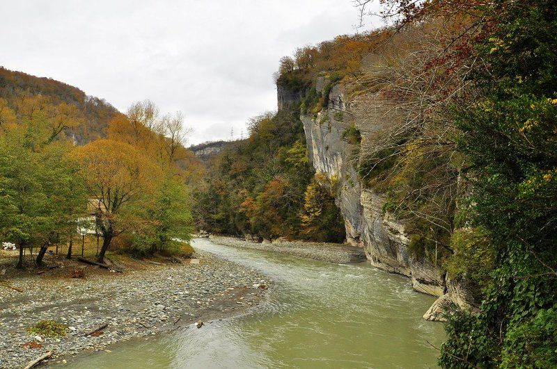осень, река, лес, сочи, мзымта Осенняя Мзымтаphoto preview