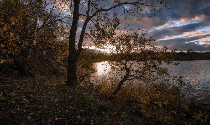 осень, сентябрь, закат, вечер Золото осеннего заката...photo preview