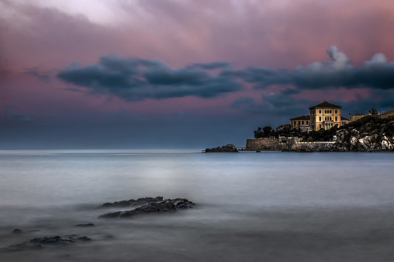 italy,toskana,morning color,sunrise,rocks,long exposure, morning at the caostphoto preview