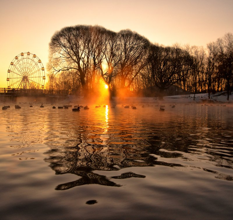 Рассвет,золото,парк,Киров,вятка Золотой рассвет photo preview