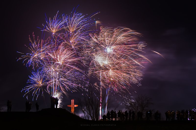 2020, new year, gdansk, poland, fireworks Happy New Yearphoto preview