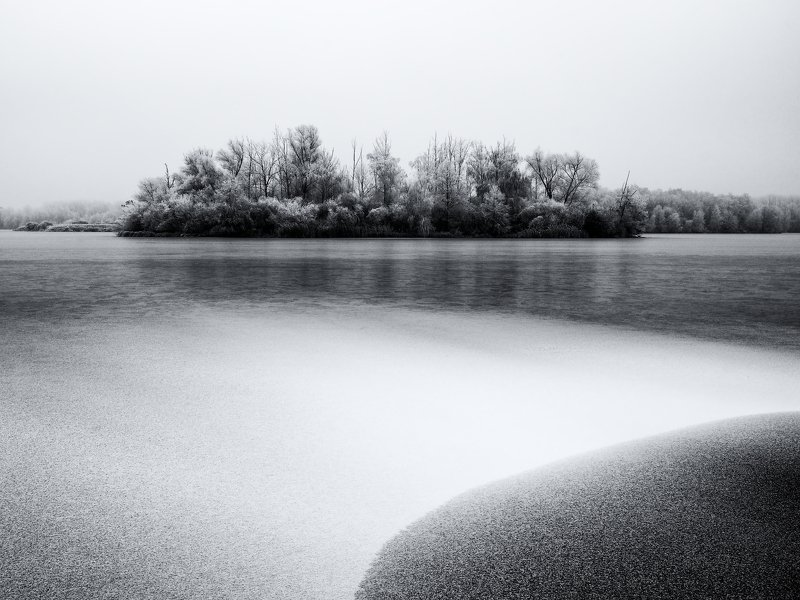 winter, snow, lake, czech republic, Winter atmosphere by the lakephoto preview