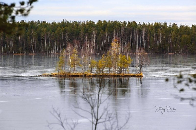 зима, карелия, пейзаж, природа, озеро Каток залитphoto preview