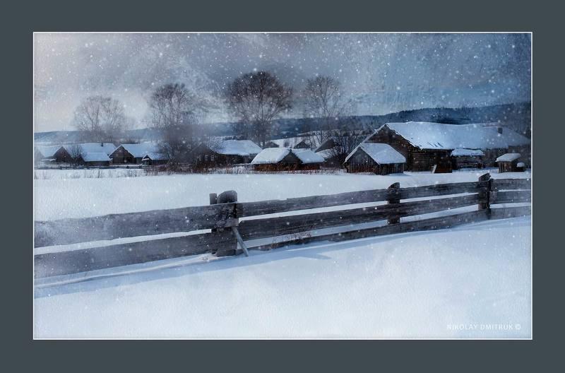 пейзаж снега. Устянский районphoto preview