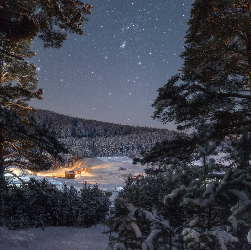 Морозная ночь / Frosty nightphoto preview