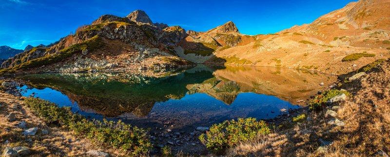 пейзаж горы архыз озёра Дневное озеро под перевалом Боковойphoto preview