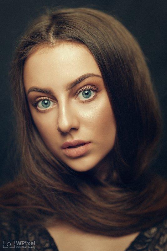 portrait women eyes brunette women by wpixel (More Than Beauty)photo preview